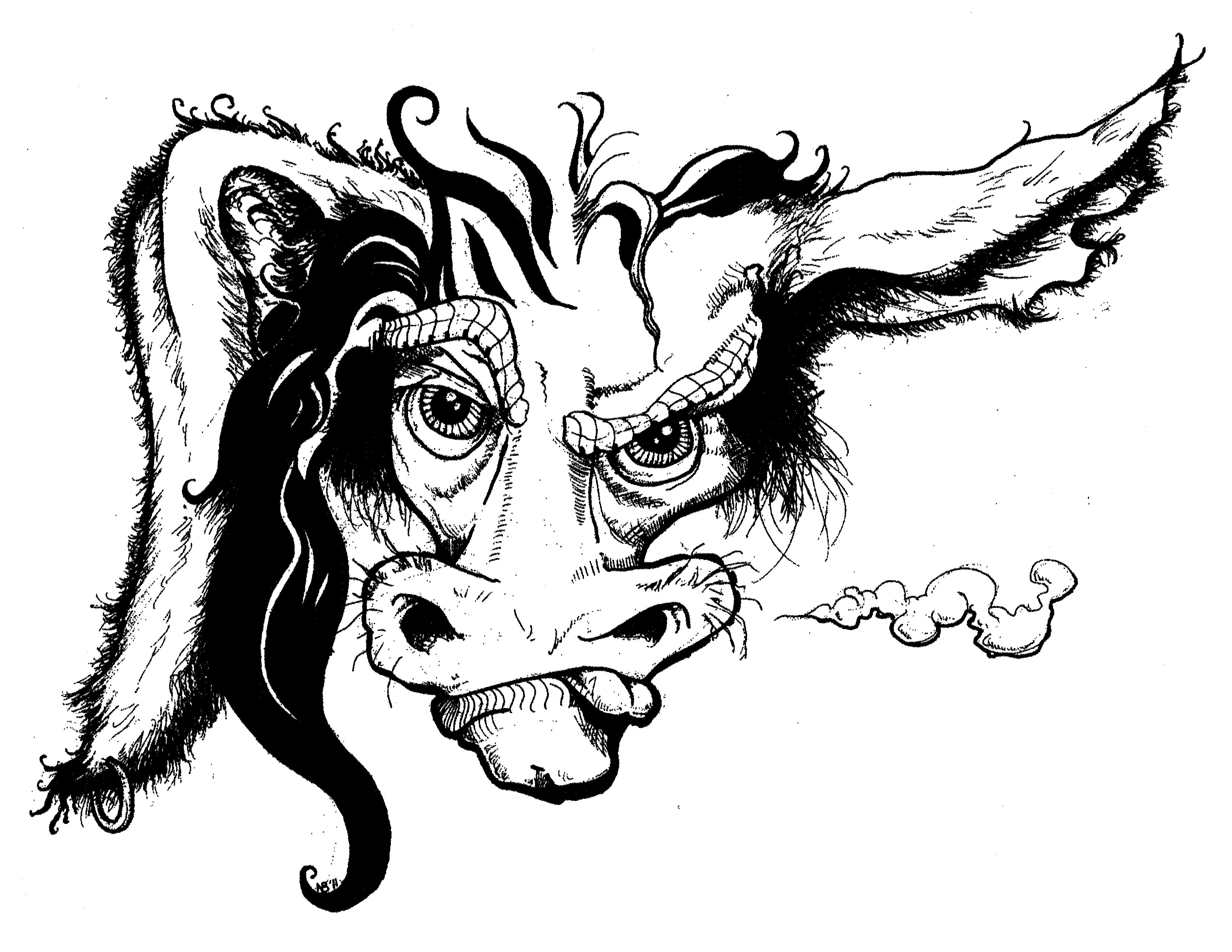 3300x2550 Cool Badass Drawings Butterfly Angel Of Crosses Devil Cartoon