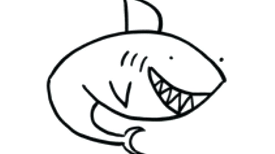 950x534 easy shark drawings how to draw a shark just in cool easy shark