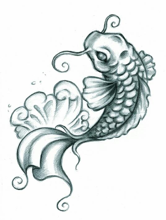 536x709 Fish Tattoos Clipart Simple