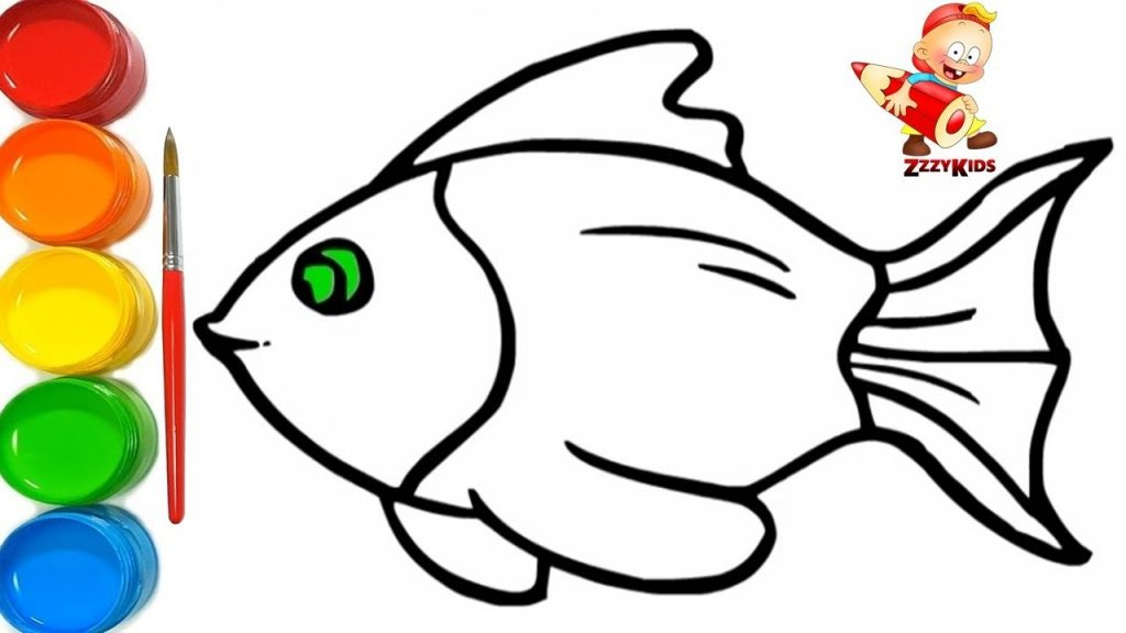 1024x576 Popular Fish Colouring Picture How To Draw And Colour A Pages