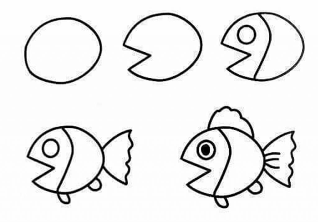 1024x717 The Truth About Simple Drawing Of A Fish Cool How To Draw Easy