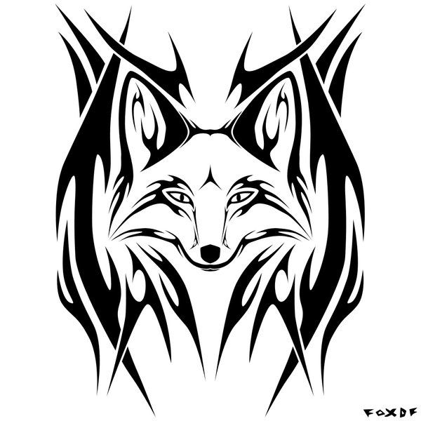 600x600 Fox Drawing Logo For Free Download