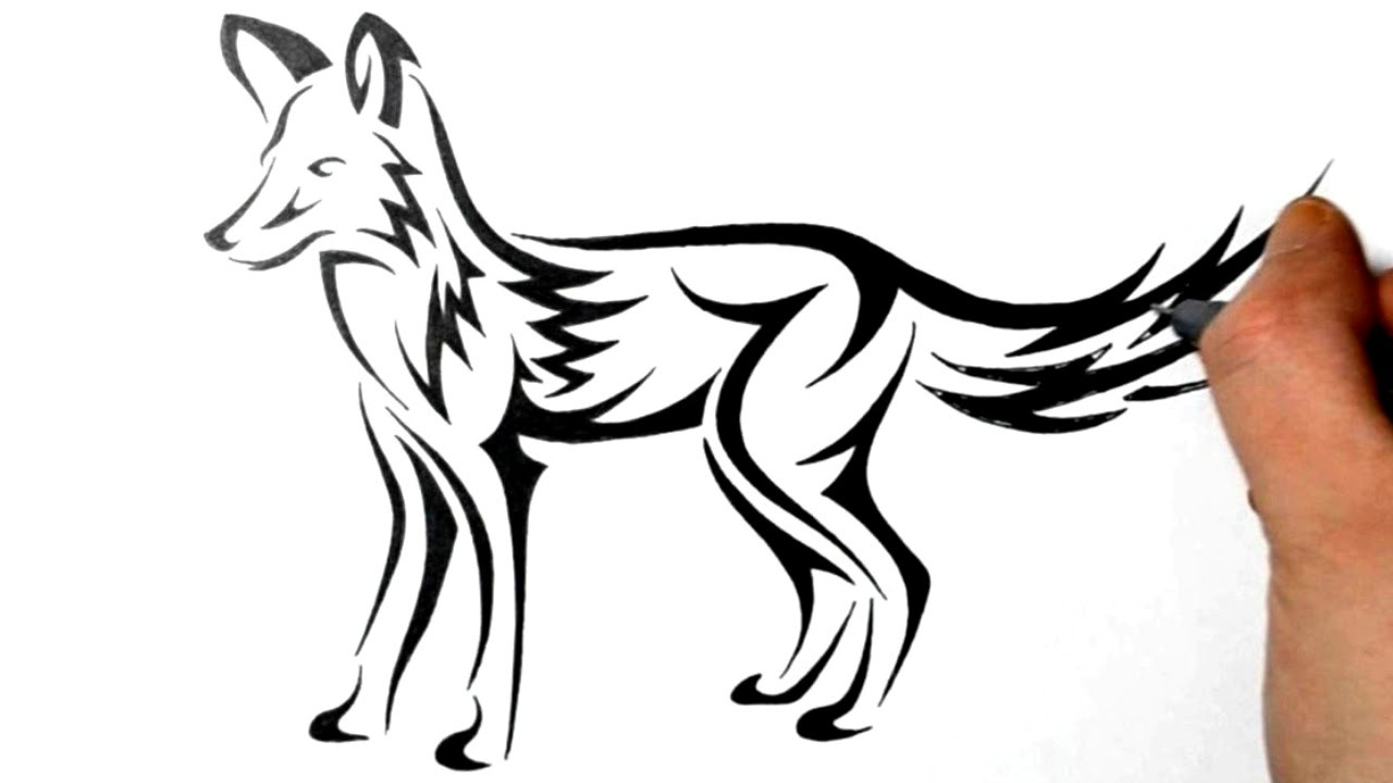 1280x720 Drawing A Fox