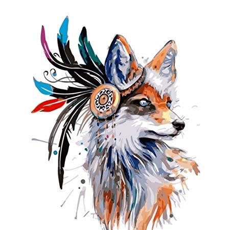 450x450 Fairylove Diy Oil Painting Kits Animal Wall Decor Canvas Paint