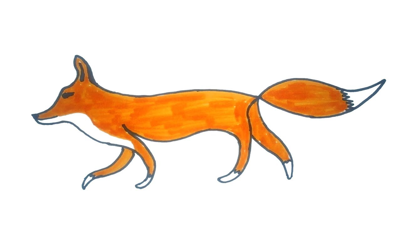 1280x720 Fox Drawing How To Draw A Easy Fox Easy Step