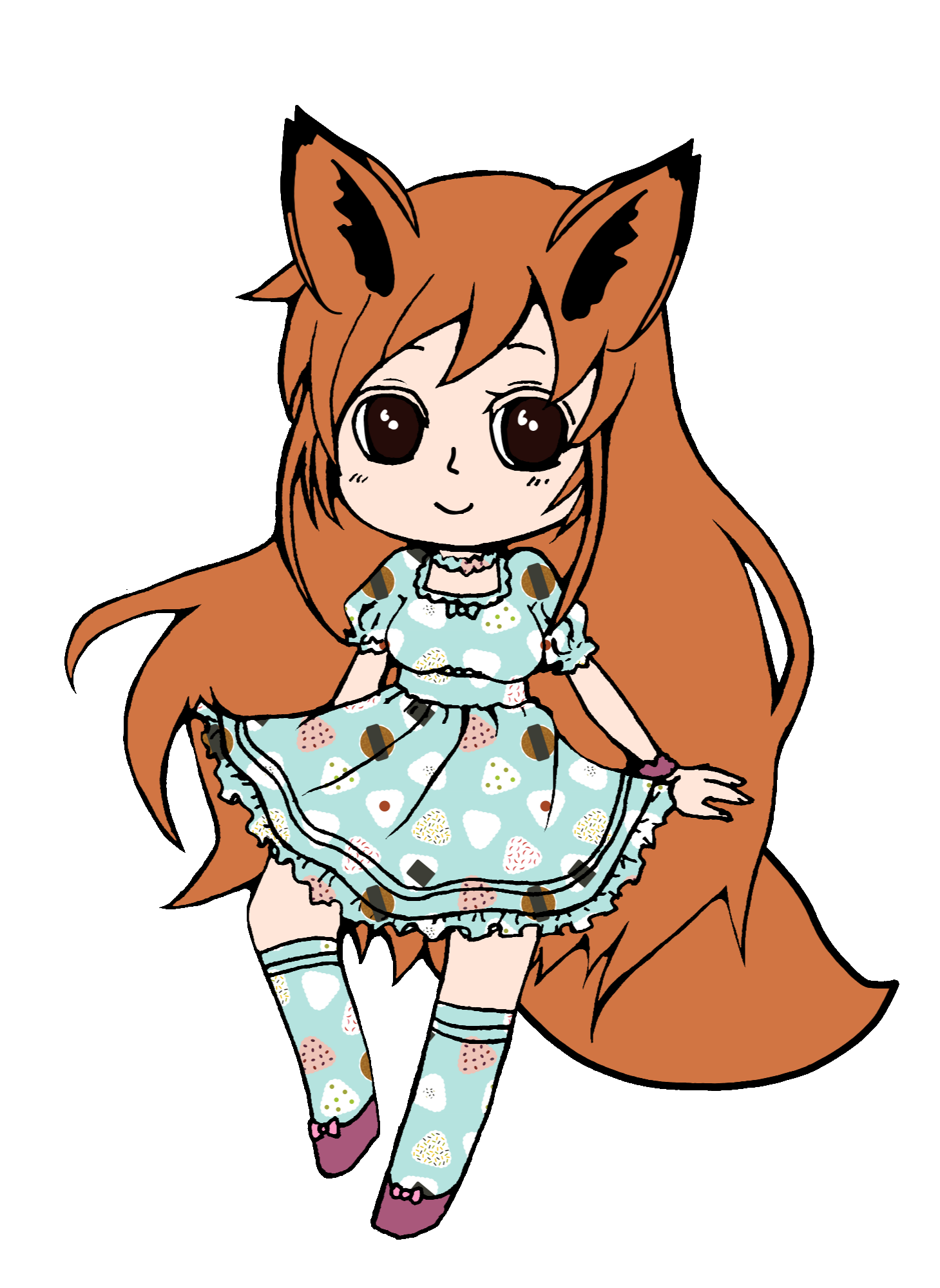 1459x2000 Girl Fox Drawing Draw Freetoedit Anime Animegirl Line