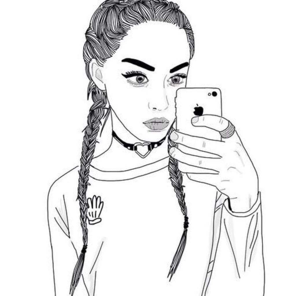 Cool Girl Drawings