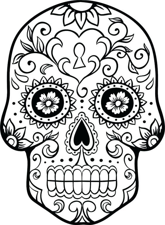 564x770 mexican skull coloring pages skull coloring pages mexican skull