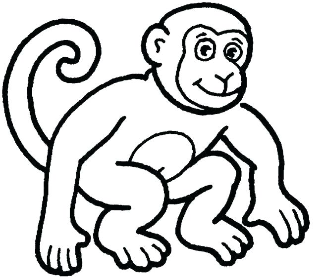650x563 Cute Monkey Drawing Cute Monkey Drawings Cartoon