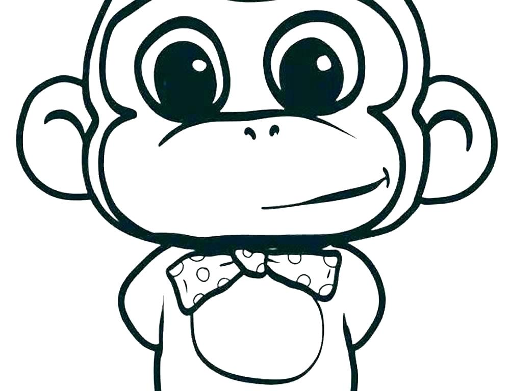 1000x768 Cute Monkey Drawings Cute Monkey Drawing Cute Monkey Drawing Easy