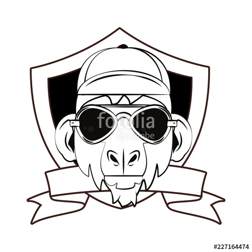 500x500 Hipster Monkey Cool Sketch Stock Image And Royalty Free Vector