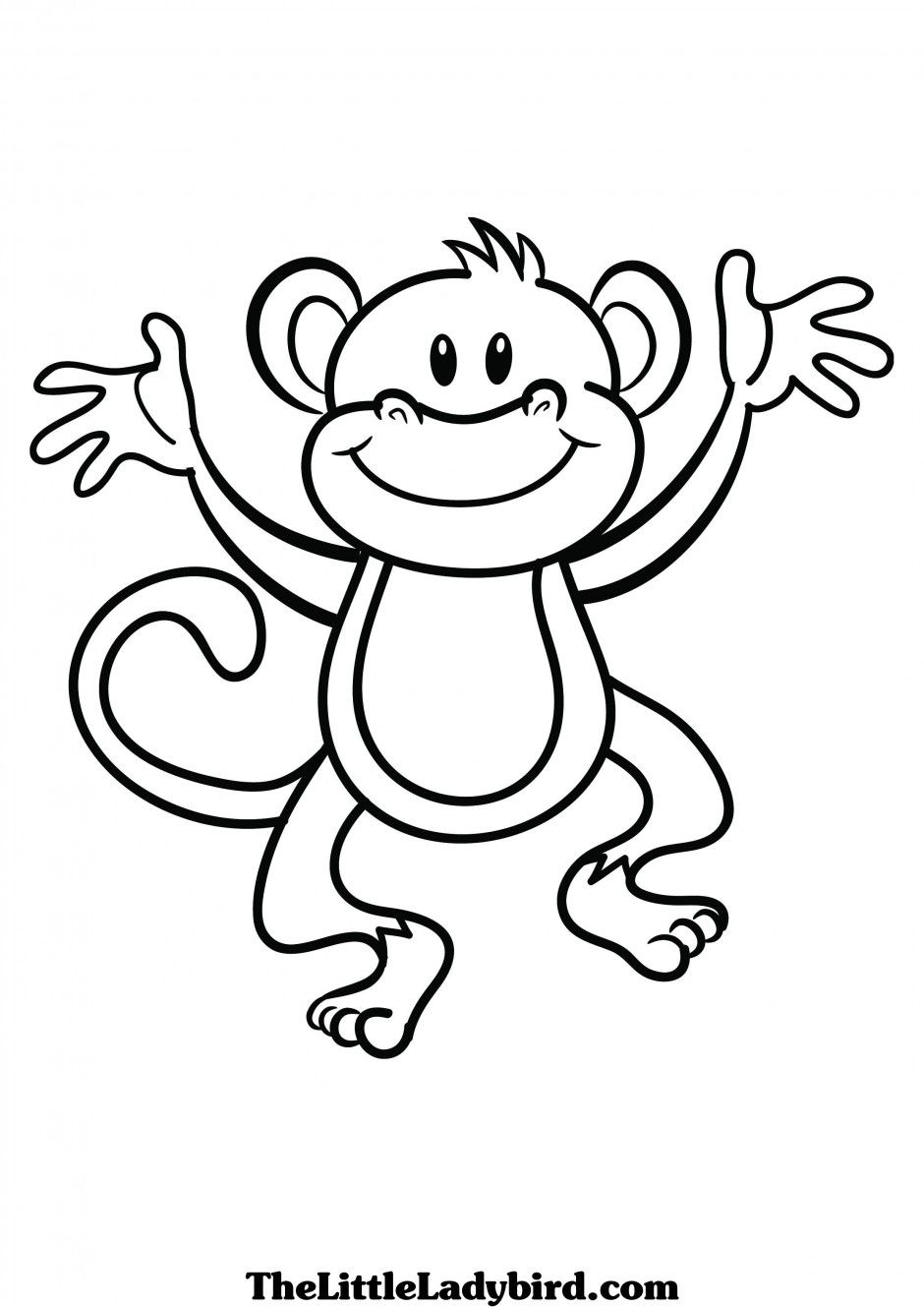 940x1329 Monkey Drawing Black And White For Free Download