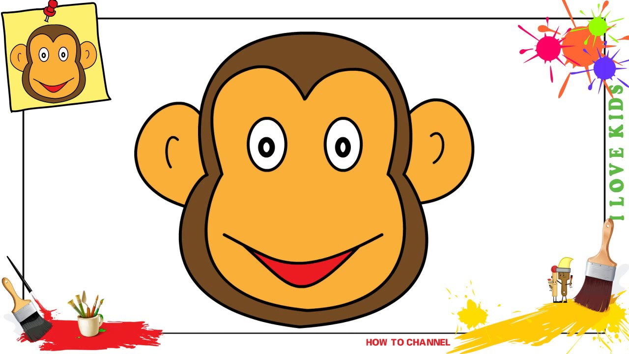 1280x720 How To Draw A Monkey