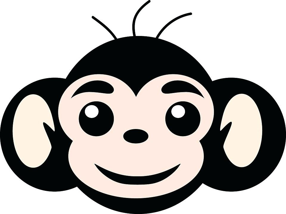 960x720 Monkey To Draw Monkey Simple Monkey Monkey Draw Hanging Monkey