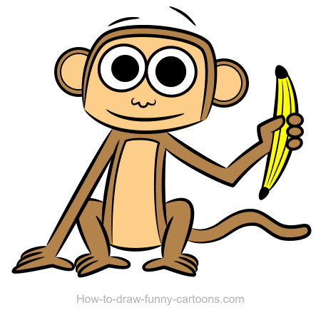 450x442 Simple Monkey Drawings