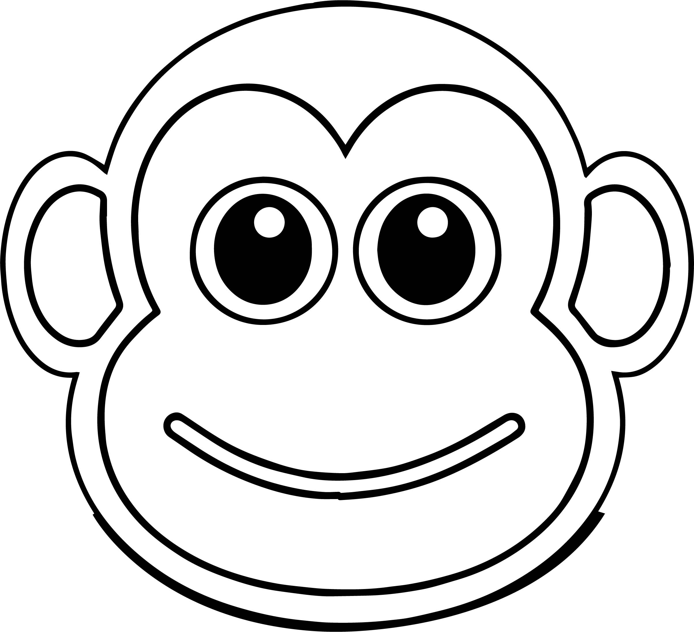 2406x2192 Top Coloring Pages Cartoon Monkeys Cool Ideas Monkey Face