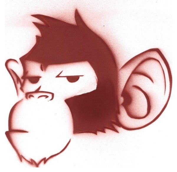 600x583 Pictures Of Cartoon Monkeys Monkey Stencil Cartoon Monkey