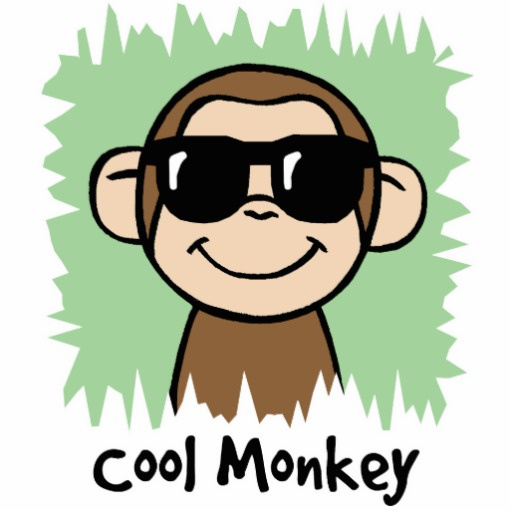 512x512 Cool Monkey Drawing