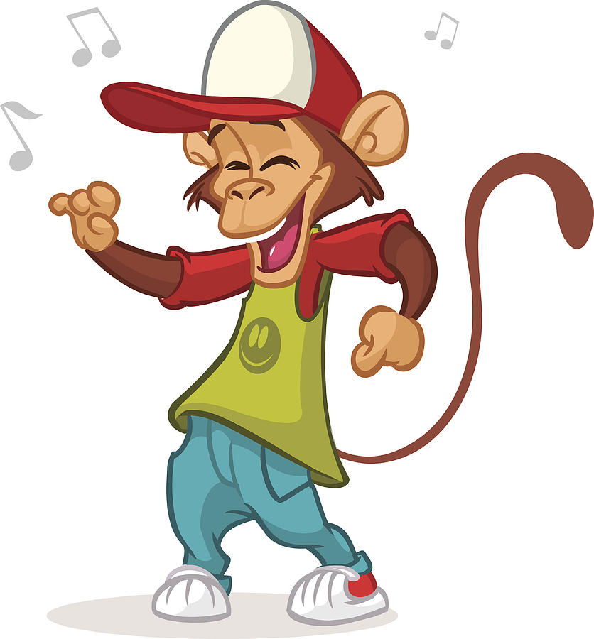 836x900 Cool Monkey Rapper Character In Modern Clothes Vector Flat