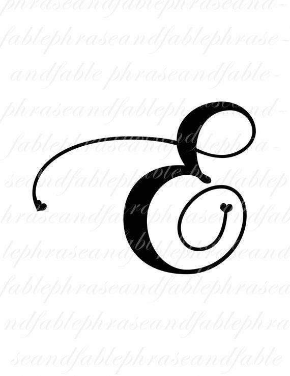 570x738 Cool Letter E Tattoo Designs