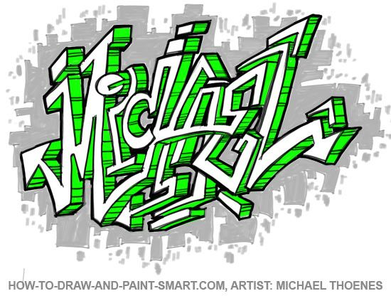 550x416 How To Draw Graffiti Letters