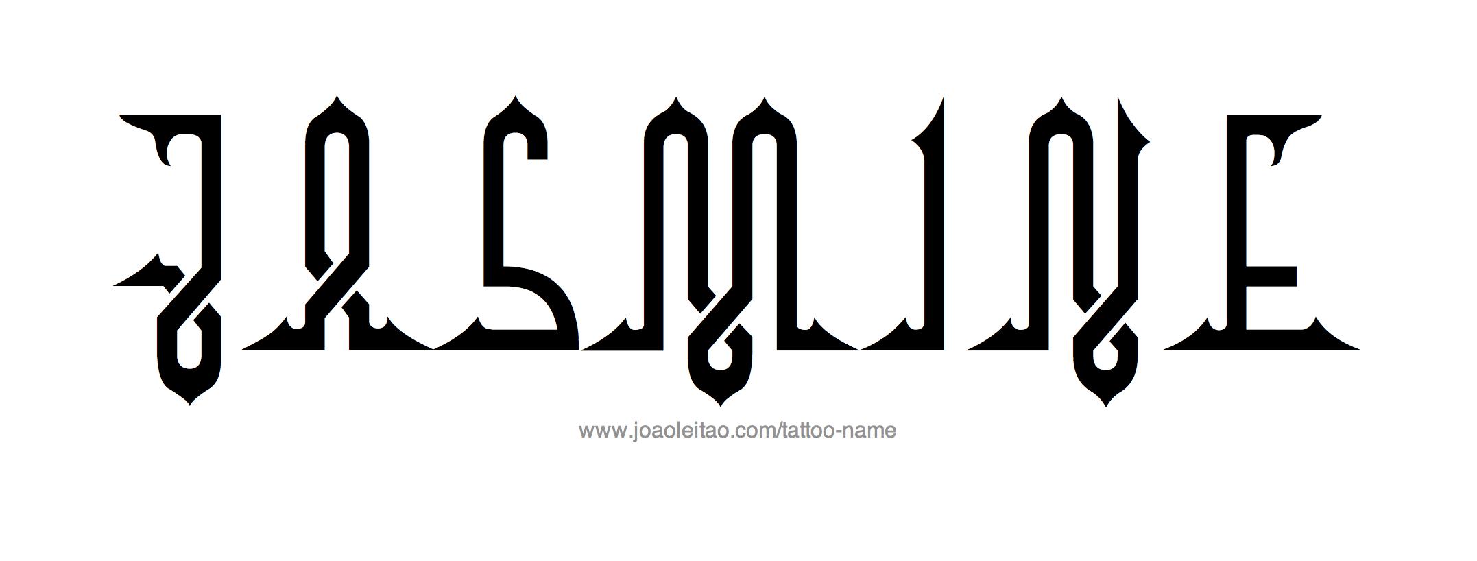2154x818 Jasmine Name Tattoo Designs