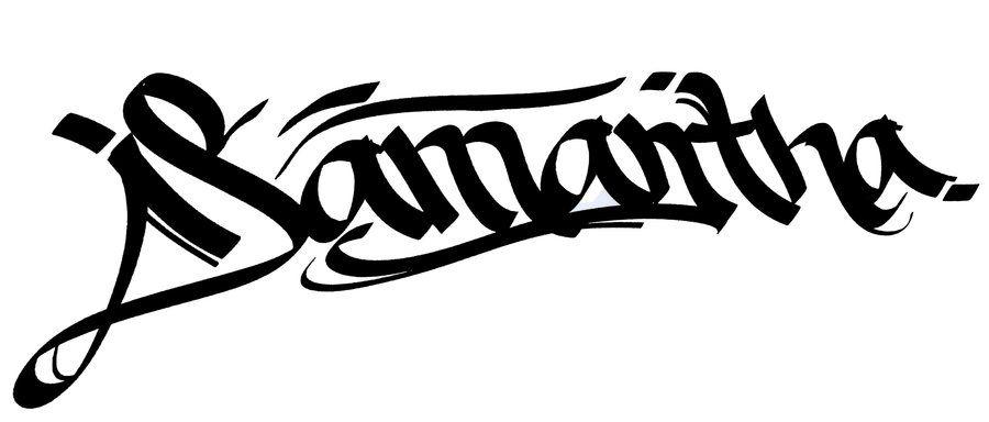 900x384 Samantha Name Tattoo Samntha Graffiti Tattoo Design
