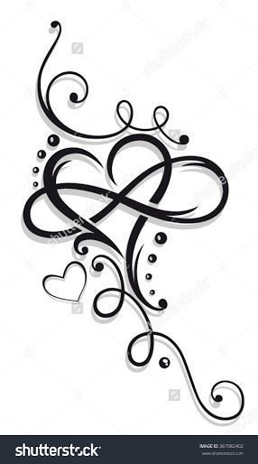286x514 Tattoo Designs Hearts With Names