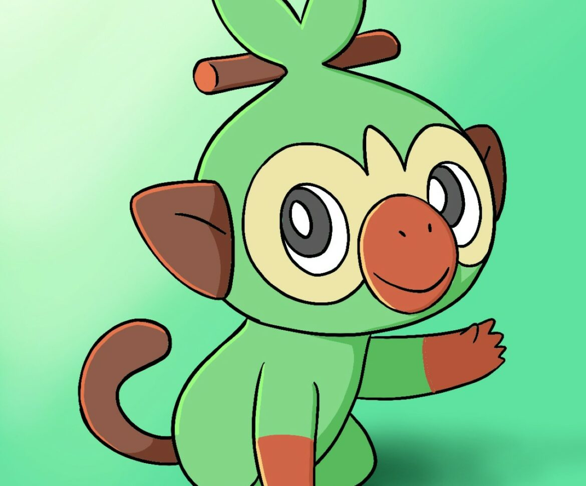 1170x971 How To Draw Grookey Pokemon