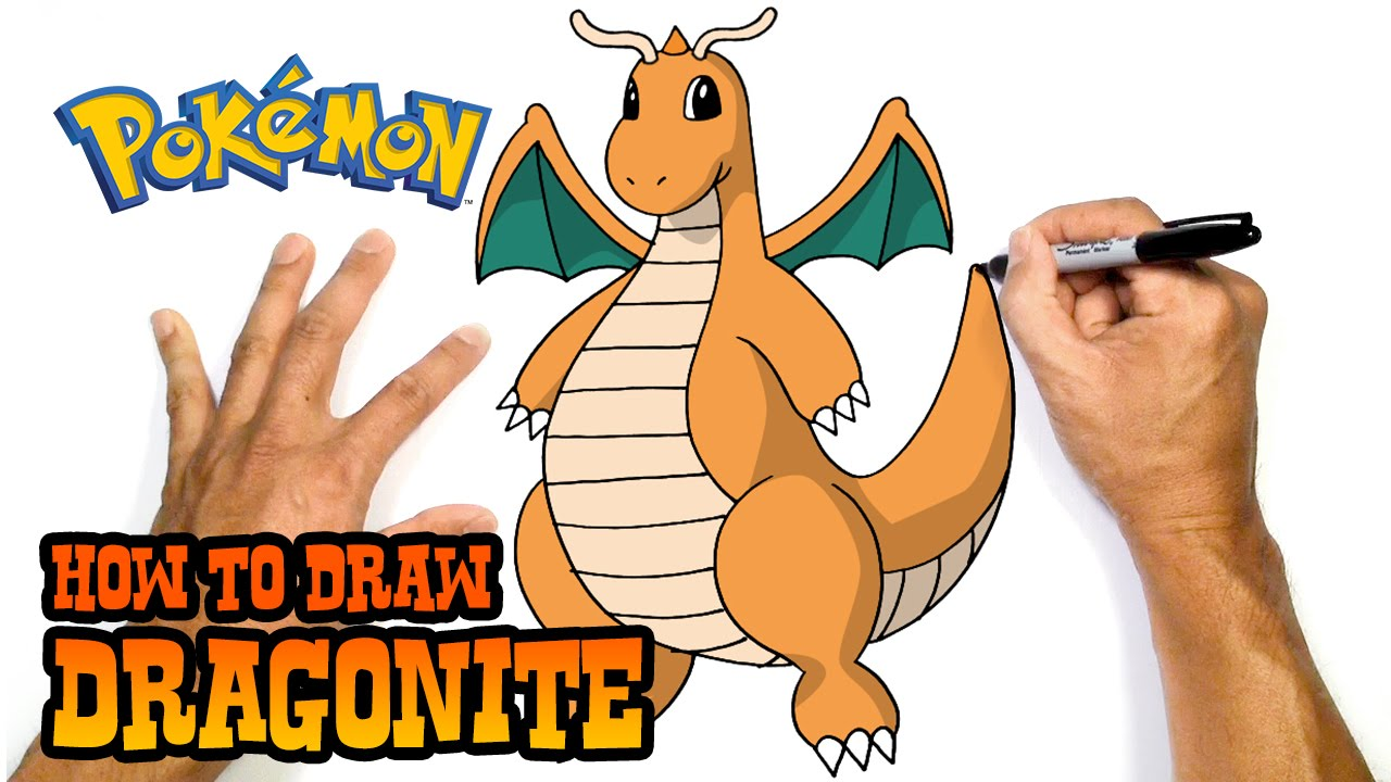 1280x720 How To Draw Dragonite Pokemon