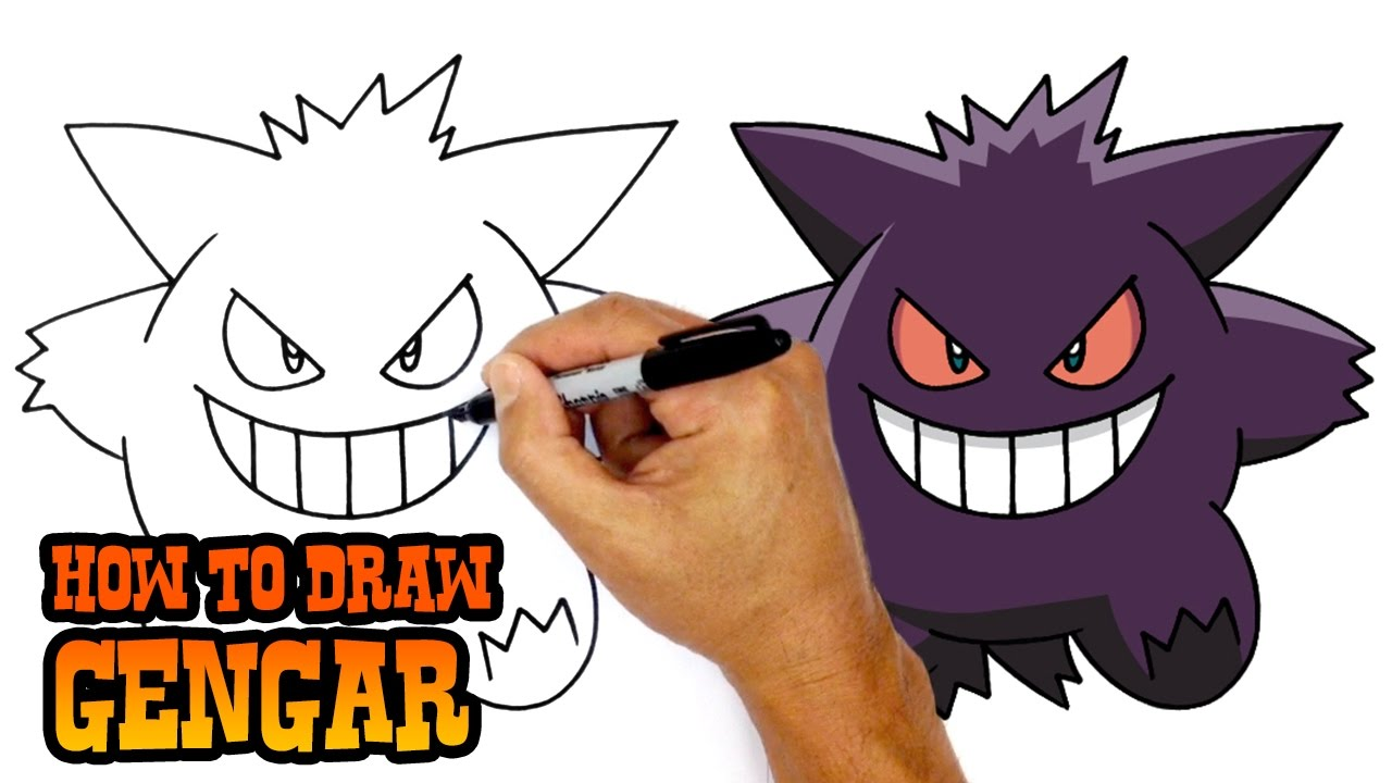 1280x720 How To Draw Pokemon Gengar