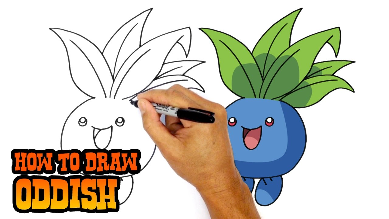1280x720 How To Draw Pokemon Oddish