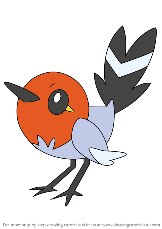 565x800 Learn How To Draw Fletchling From Pokemon