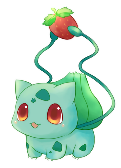 412x572 Bulbasaur W Strawberry I Like How He Is Holding The Strawberry