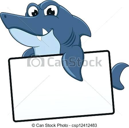 450x449 cool shark drawings cool shark with blank sign hammerhead shark