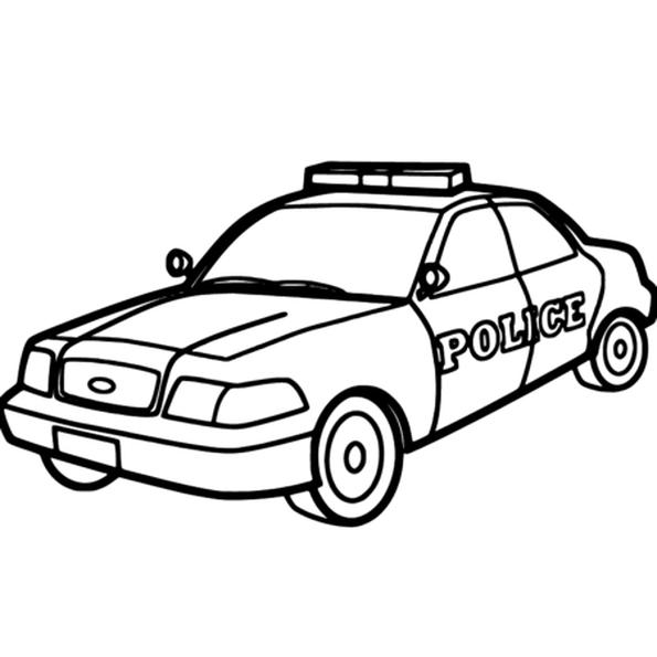 595x595 sketch of police car police cake in police