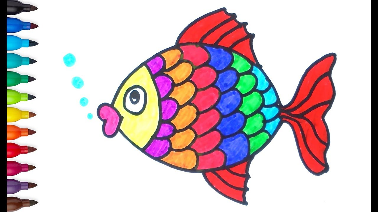 Coral Reef Drawing With Color Free Download Best Coral Reef