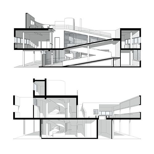 500x500 Drawing Architecture Villa, Architect House
