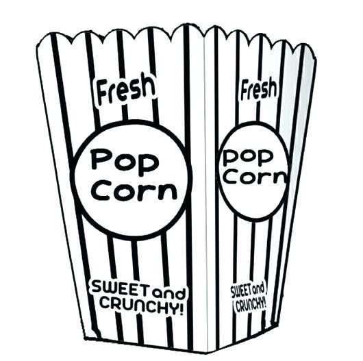 530x527 Drawing Of Popcorn Popcorn Drawing Png