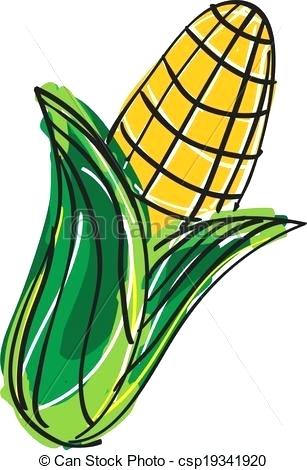 307x470 Drawings Of Corn Corn Corn Stalk Drawing Easy