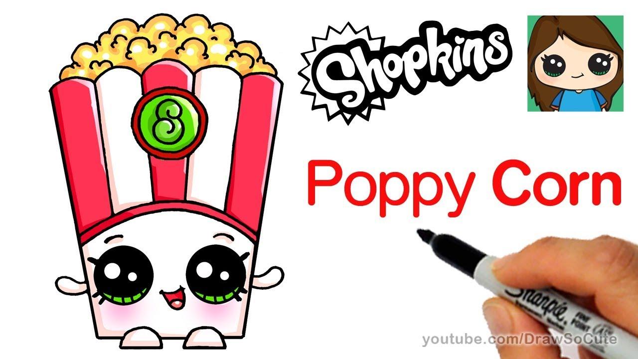 1280x720 How To Draw Poppy Corn Easy Shopkins