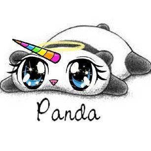 306x306 Cute, Drawings, Panda, Rainbow, Sweet, Unicorn