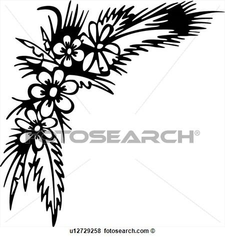 450x475 Flower Borders Left Corner Clipart