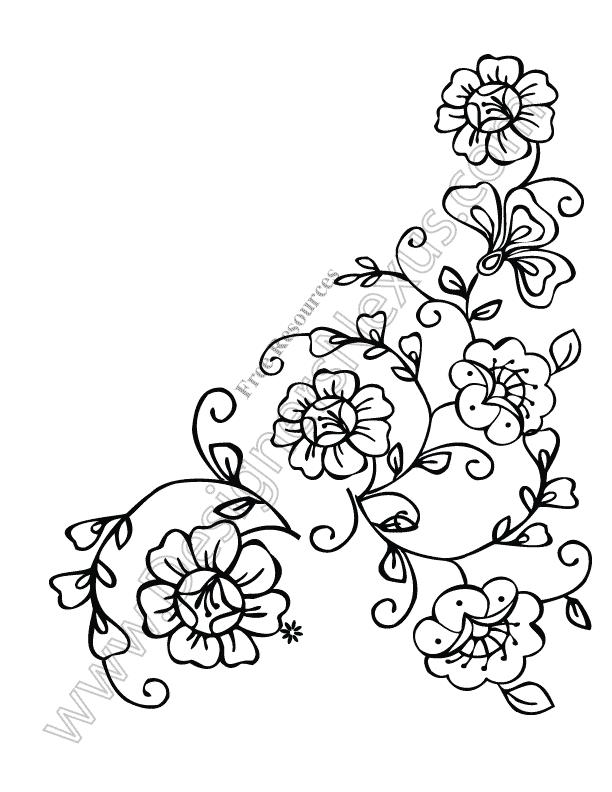 612x792 Free Flower Vectors Floral Corner Border Clip Art