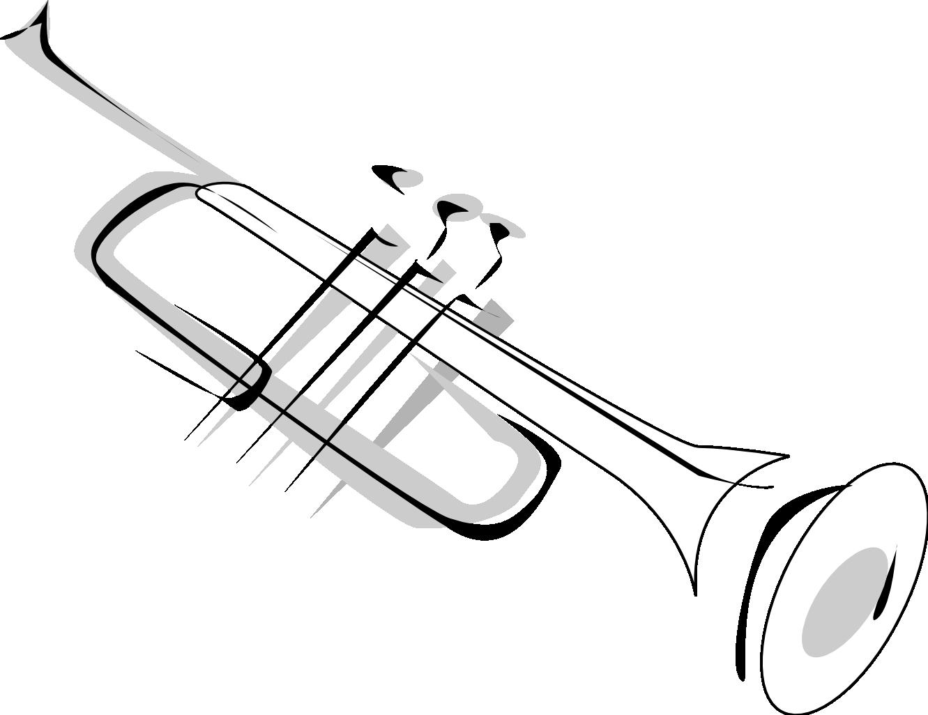 1331x1026 simple trumpet tattoo design tattoos trumpet tattoo, music