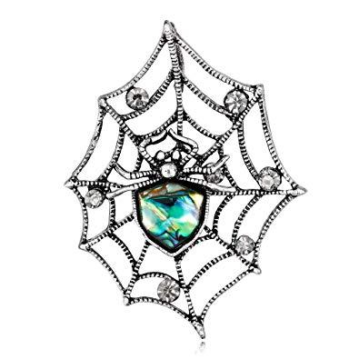 395x395 yazilind sea shell brooch spiderweb shape rhinestone