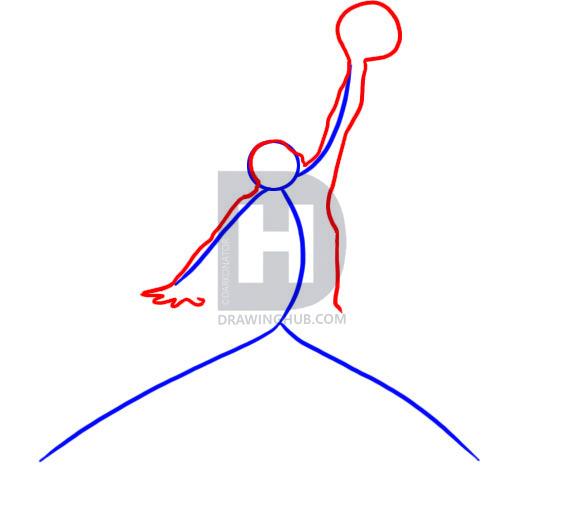 572x513 Low Cost Air Jordan Drawing Jumpman