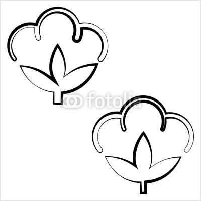 400x400 cotton flower icon, cotton ball, cotton fiber buy photos ap