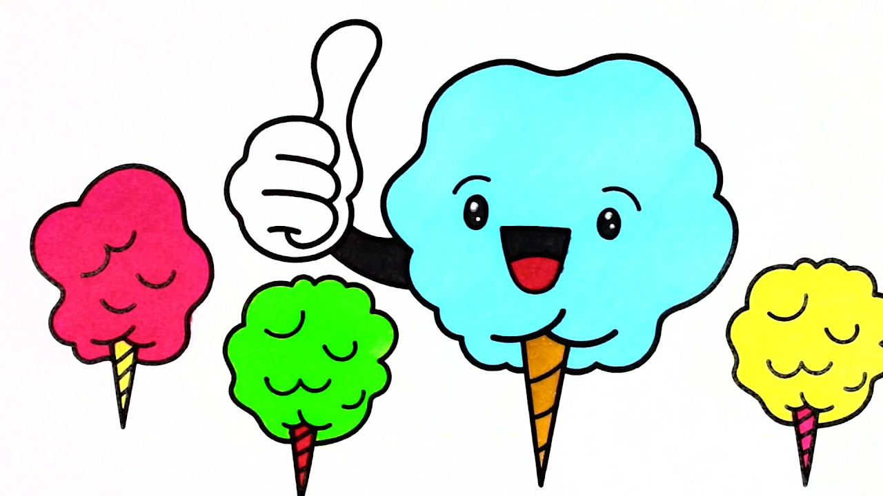 1280x720 how to draw cartoon cotton candy cartoon cotton candy coloring