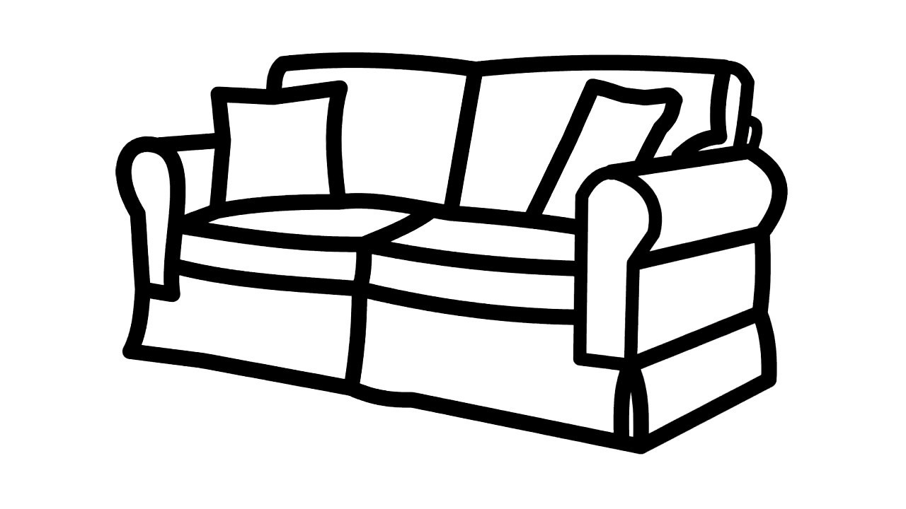 1280x720 how to draw sofa for kids, how to drawing sofa for baby